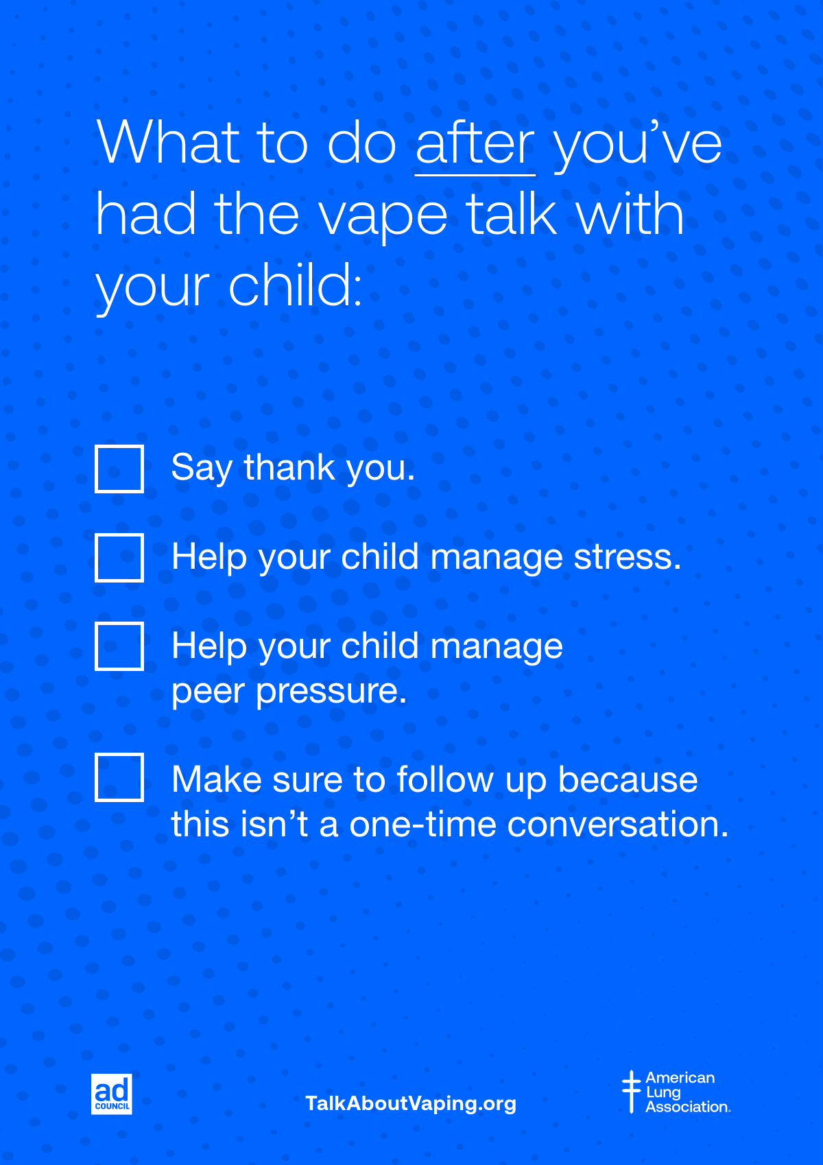 Tips after the vape talk
